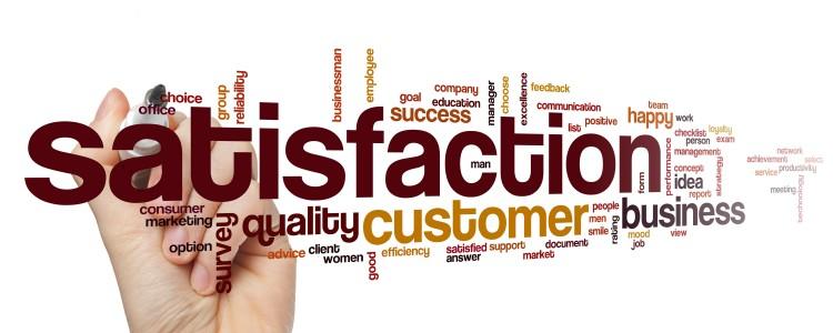 Satisfaction word cloud